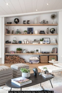 Popular Open Shelving Bookshelves Ideas To Decorate Your Room 26