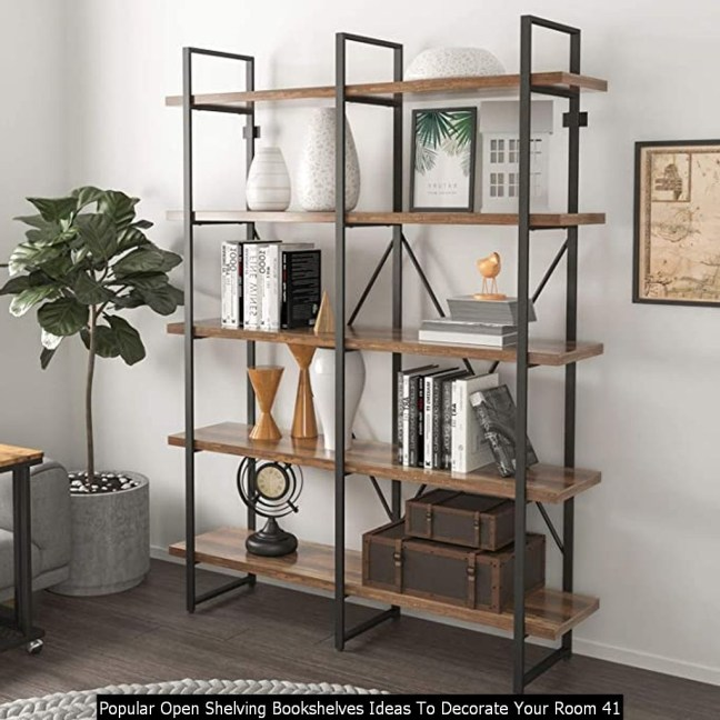 Popular Open Shelving Bookshelves Ideas To Decorate Your Room 41