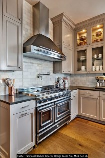 Rustic Traditional Kitchen Interior Design Ideas You Must See 26