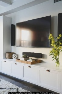 Top Neutral Living Room Cabinets Storage Ideas That You Will Love 01