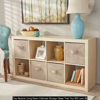 Top Neutral Living Room Cabinets Storage Ideas That You Will Love 08