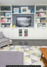 Top Neutral Living Room Cabinets Storage Ideas That You Will Love 13