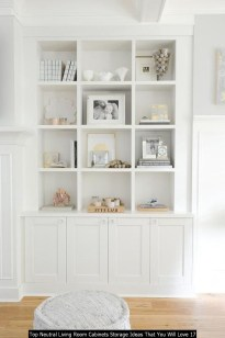 Top Neutral Living Room Cabinets Storage Ideas That You Will Love 17
