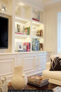 Top Neutral Living Room Cabinets Storage Ideas That You Will Love 36