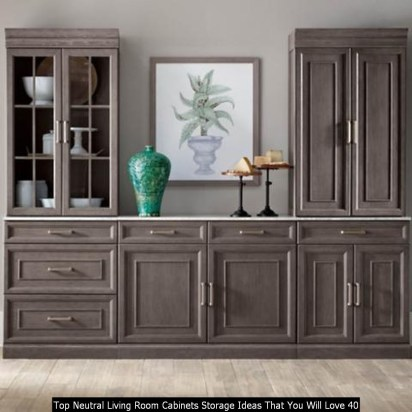 Top Neutral Living Room Cabinets Storage Ideas That You Will Love 40