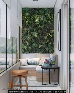 Trendy Minimalist Balcony Ideas That Leave Nothing Else To Be Desired 07