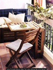 Trendy Minimalist Balcony Ideas That Leave Nothing Else To Be Desired 41