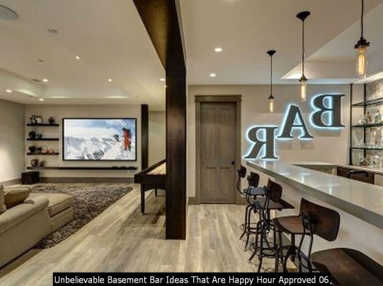 Unbelievable Basement Bar Ideas That Are Happy Hour Approved 06