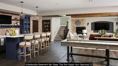Unbelievable Basement Bar Ideas That Are Happy Hour Approved 22