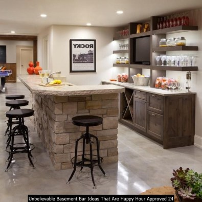 Unbelievable Basement Bar Ideas That Are Happy Hour Approved 24
