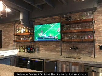 Unbelievable Basement Bar Ideas That Are Happy Hour Approved 41