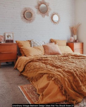 Unordinary Vintage Bedroom Design Ideas That You Should Know 27