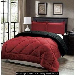 Astonishing Red Bedroom Decorating Ideas For You 02