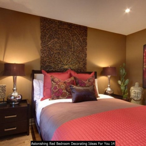 Astonishing Red Bedroom Decorating Ideas For You 14