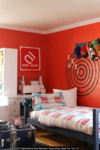 Astonishing Red Bedroom Decorating Ideas For You 19
