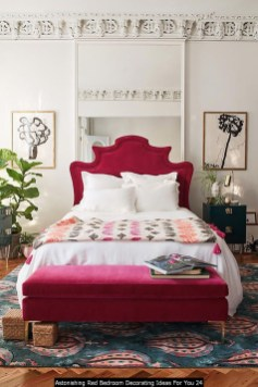 Astonishing Red Bedroom Decorating Ideas For You 24