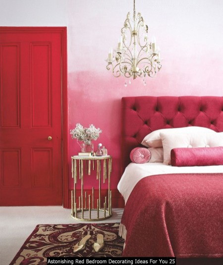 Astonishing Red Bedroom Decorating Ideas For You 25