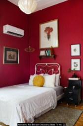 Astonishing Red Bedroom Decorating Ideas For You 32