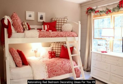 Astonishing Red Bedroom Decorating Ideas For You 49