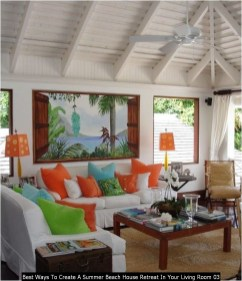 Best Ways To Create A Summer Beach House Retreat In Your Living Room 03