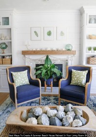 Best Ways To Create A Summer Beach House Retreat In Your Living Room 04