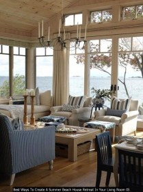 Best Ways To Create A Summer Beach House Retreat In Your Living Room 05
