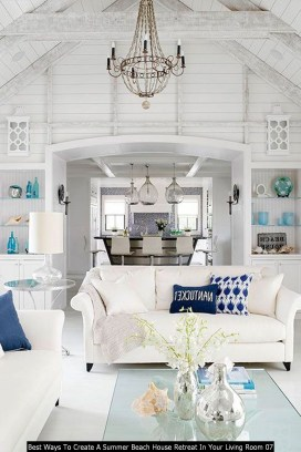 Best Ways To Create A Summer Beach House Retreat In Your Living Room 07