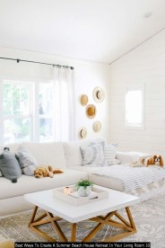 Best Ways To Create A Summer Beach House Retreat In Your Living Room 10