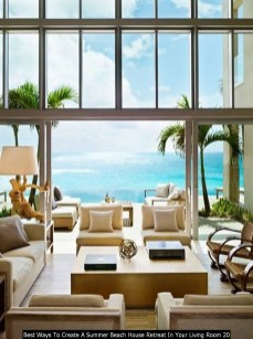 Best Ways To Create A Summer Beach House Retreat In Your Living Room 20