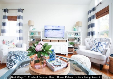 Best Ways To Create A Summer Beach House Retreat In Your Living Room 21