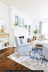 Best Ways To Create A Summer Beach House Retreat In Your Living Room 34