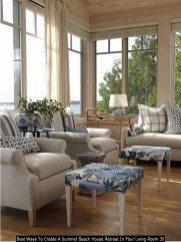 Best Ways To Create A Summer Beach House Retreat In Your Living Room 35