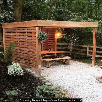 Captivating Backyard Pergola Ideas For Your Inspiration 06