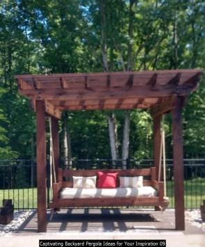 Captivating Backyard Pergola Ideas For Your Inspiration 09