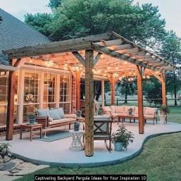 Captivating Backyard Pergola Ideas For Your Inspiration 10