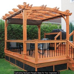 Captivating Backyard Pergola Ideas For Your Inspiration 11