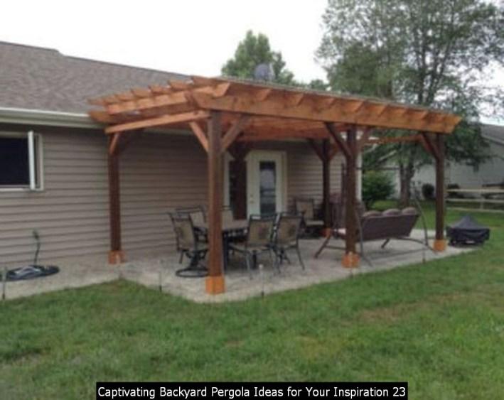 Captivating Backyard Pergola Ideas For Your Inspiration 23