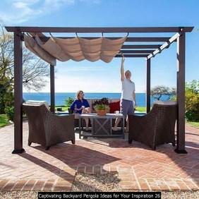 Captivating Backyard Pergola Ideas For Your Inspiration 26