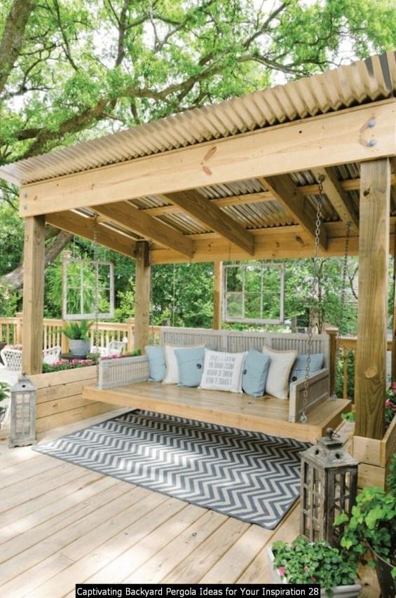 Captivating Backyard Pergola Ideas For Your Inspiration 28