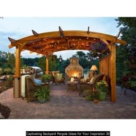 Captivating Backyard Pergola Ideas For Your Inspiration 30