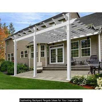 Captivating Backyard Pergola Ideas For Your Inspiration 33