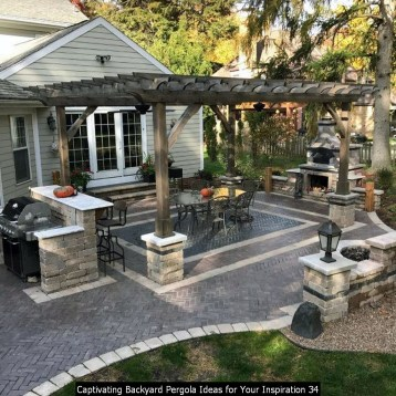 Captivating Backyard Pergola Ideas For Your Inspiration 34