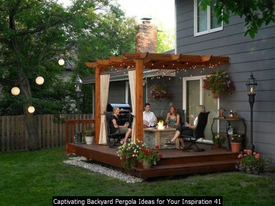 Captivating Backyard Pergola Ideas For Your Inspiration 41