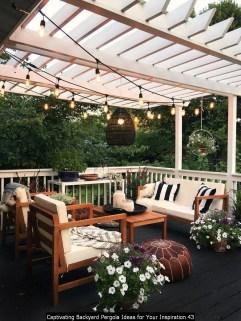 Captivating Backyard Pergola Ideas For Your Inspiration 43