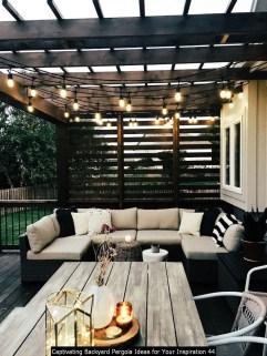 Captivating Backyard Pergola Ideas For Your Inspiration 44