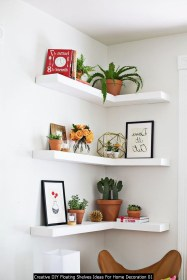 Creative DIY Floating Shelves Ideas For Home Decoration 01