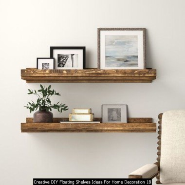 Creative DIY Floating Shelves Ideas For Home Decoration 18
