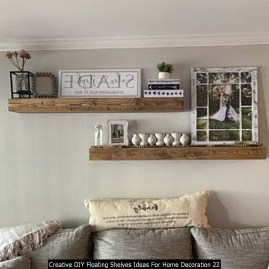 Creative DIY Floating Shelves Ideas For Home Decoration 22