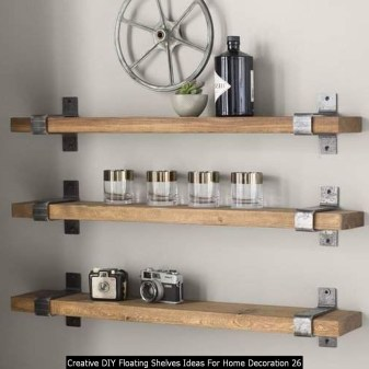 Creative DIY Floating Shelves Ideas For Home Decoration 26