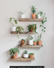 Creative DIY Floating Shelves Ideas For Home Decoration 32